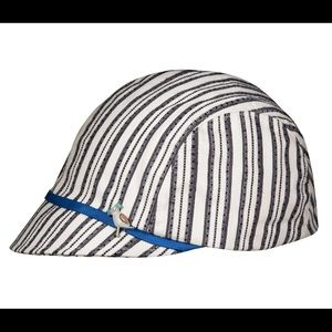 Limited edition Eugeni Kim hat. Navy blue and tan